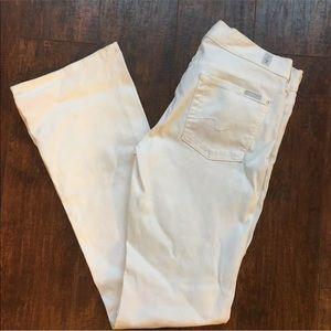 7 For All Mankind White Jeans Size 28